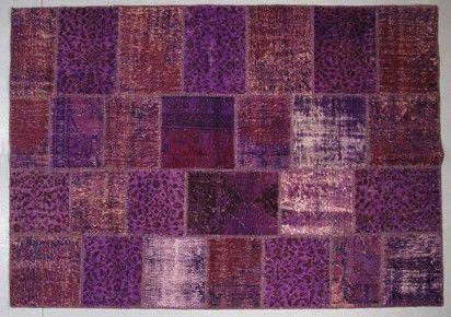 Tapis vintage patchwork violet  Arteslonga Vintage Rugs  Pinterest