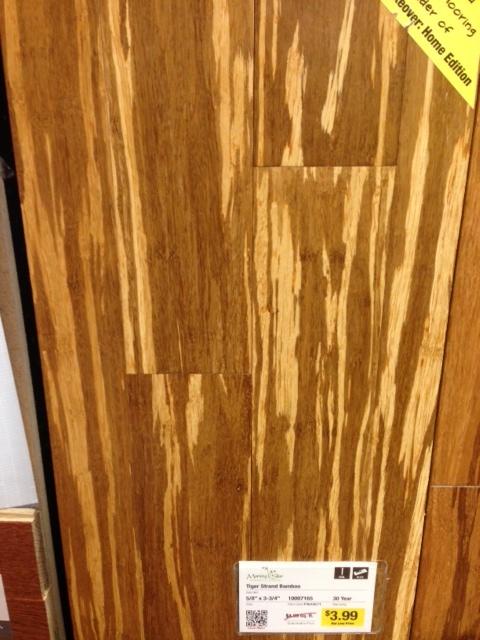 Hardwood bamboo flooring