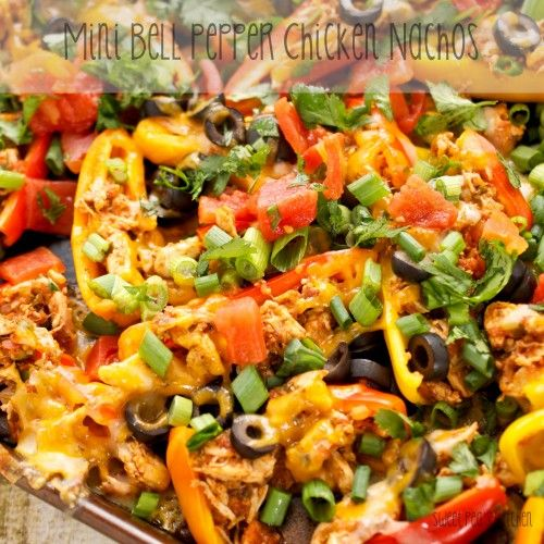 Mini Bell Pepper Chicken Nachos | Recipe