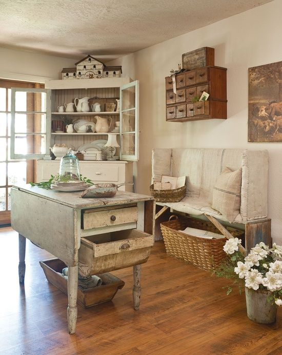 Old Farmhouse Kitchen Area Country Decorating Ideas Pinterest