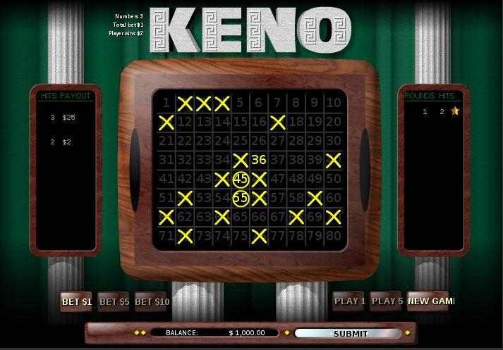keno online gambling