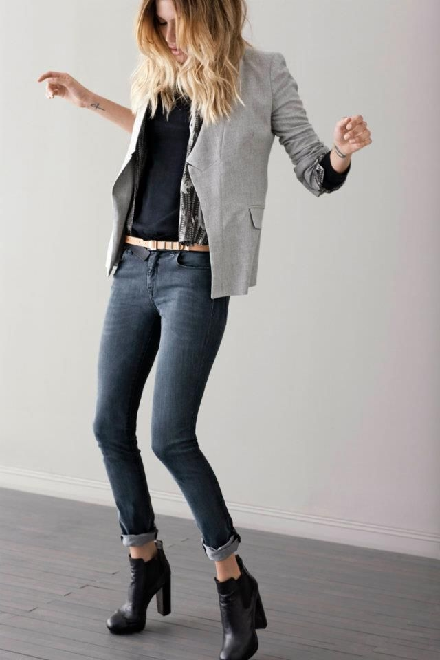 rock those skinny jeans + heeled boots this Fall!