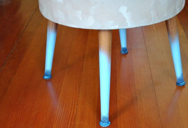 Add an ombre effect to the legs of an everyday footstool with our step-by-step tips.