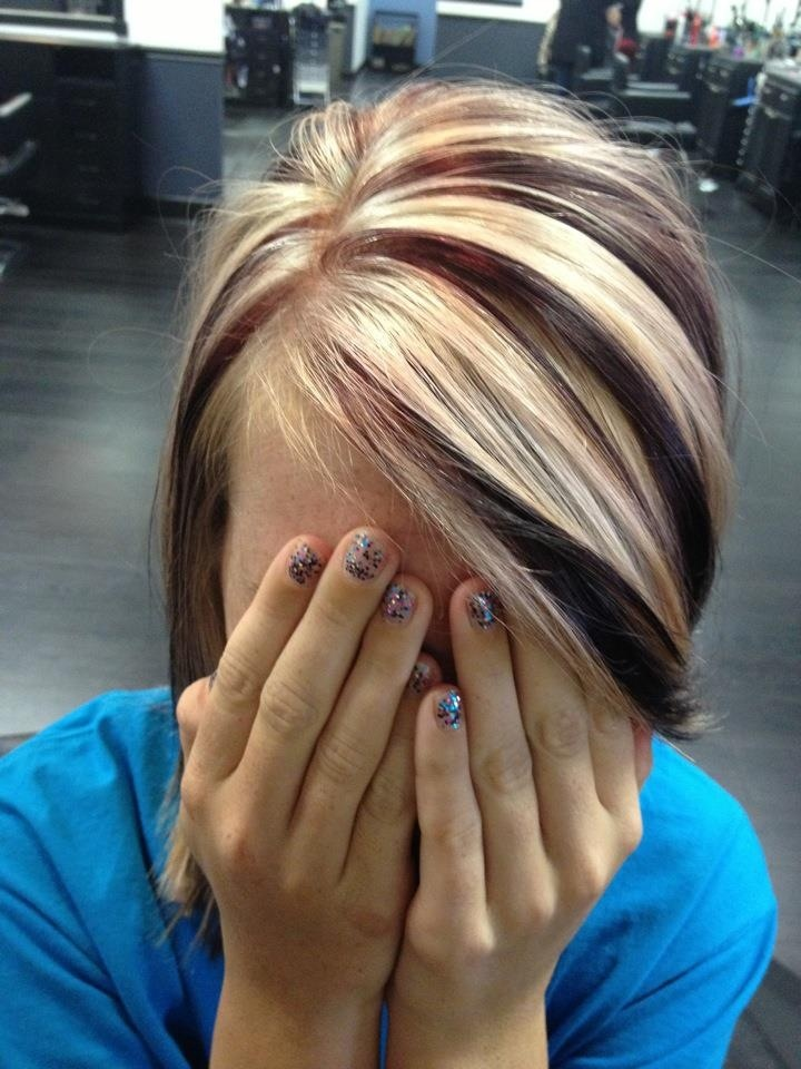 Pin Chunky Blonde Highlights To Download Chestnut Brown With on ...