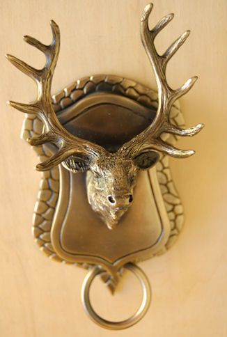 Honeck Sculpture-Door Knockers-Elk Door Knocker