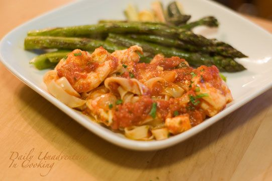 Shrimp, tomato and feta pasta. Looks easy and good.   Have to Try ...