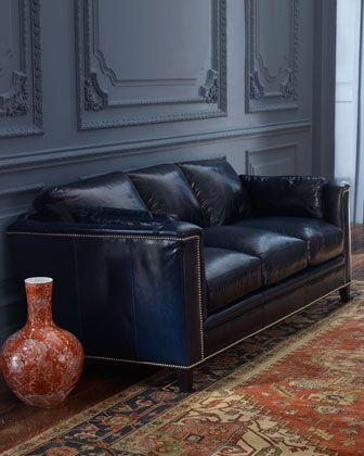 sapphire leather sofa at horchow ideas for home pinterest