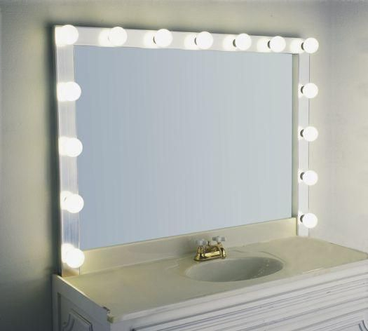 great hollywood mirror for the makeup table dyi instructions on how. Black Bedroom Furniture Sets. Home Design Ideas