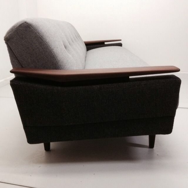 Long 4str mid century day bed sofa retro 50s 60s 70s deco for Sofa bed 60s