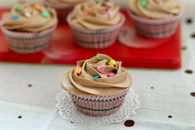 my bare cupboard: Coffee walnut cupcakes with mocha butter frosting
