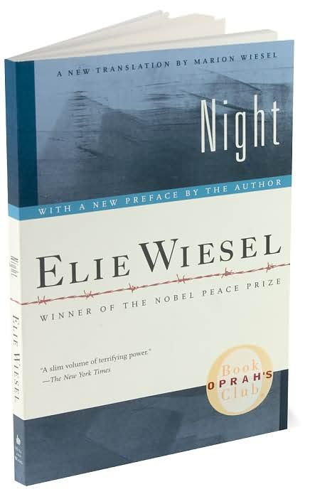 how the holocaust is portrayed in elie wiesels novel night Elie wiesel—holocaust survivor, best-selling author, and nobel peace prize recipient—has worked tirelessly to combat intolerance, injustice, and apathy earlier this year, wiesel was accosted by a holocaust denier at a hotel in san francisco.
