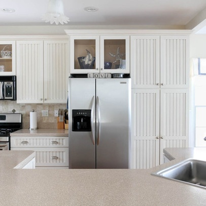 Kitchen beadboard cabinets kitchen pinterest for Beadboard kitchen cabinets