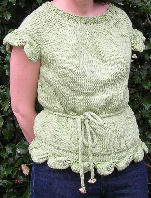 Confessions of Crafty Witches Green Woman Sweater Pattern http://www