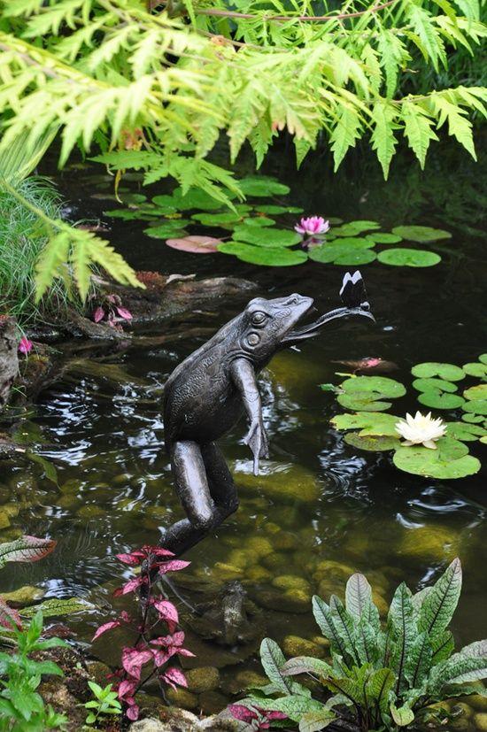 Pond ornament garden ideas pinterest Pond ornaments