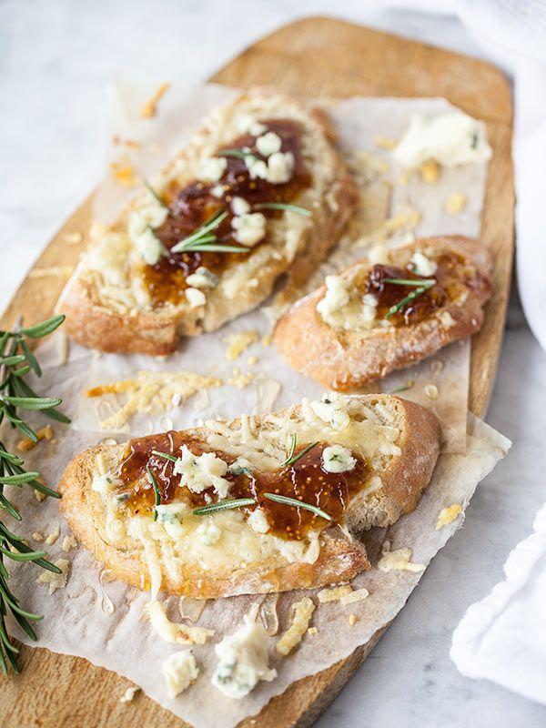 Fig Spread and Cheese Crostini Appetizer | Recipe