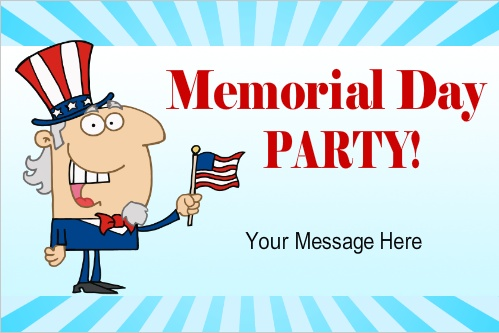 free memorial day banners