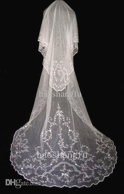 Beaded Cathedral Wedding Veil