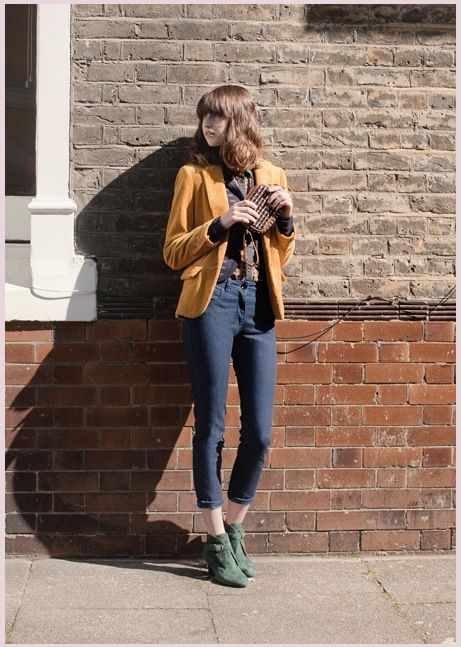 Sessun A/W 2012 - mustard blazer with cropped jeans