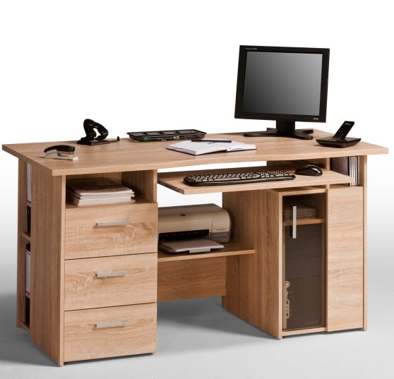 Oak Computer Work Station And Drawers | Computer Desk | Pinterest