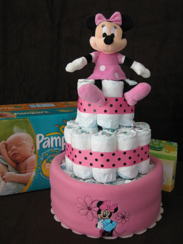 minnie mouse diaper cake baby shower pinterest
