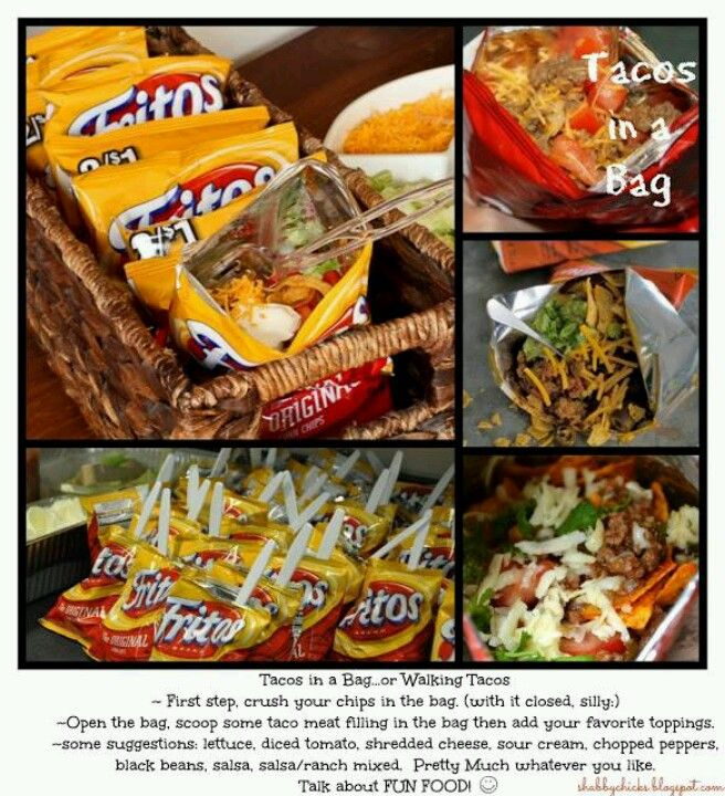 Walking Tacos~better with Doritos Saw this and thought of you guys ...