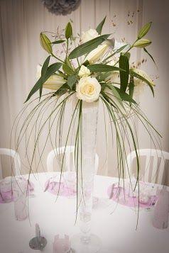 Centre table haut recherche google fleurs pinterest - Fleurs table mariage ...