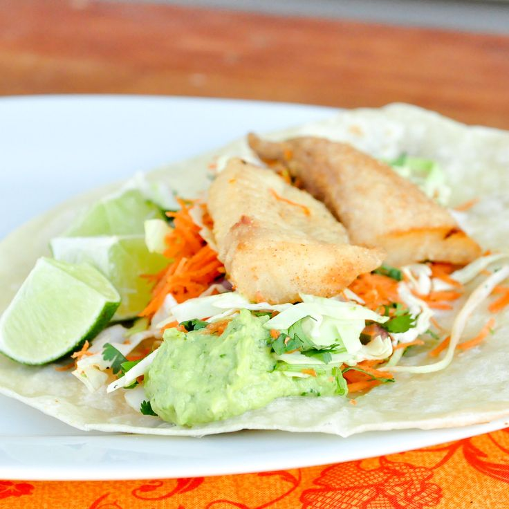 Baja Fish Tacos - love the cabbage cole slaw/dressing recipe here