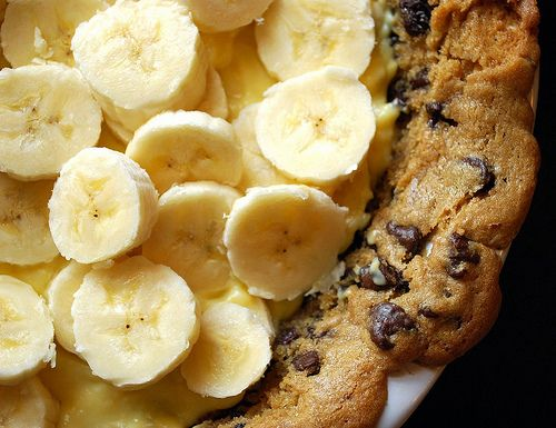 banana cream pie + cookie crust!