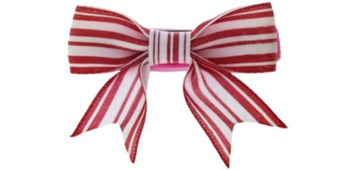 Candy Cane Bow | Candy Cane Lane | Pinterest