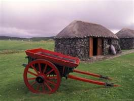 Rural Landscape and Wheelbarrow, Kilmuir, Isle of Skye, Scotland ...