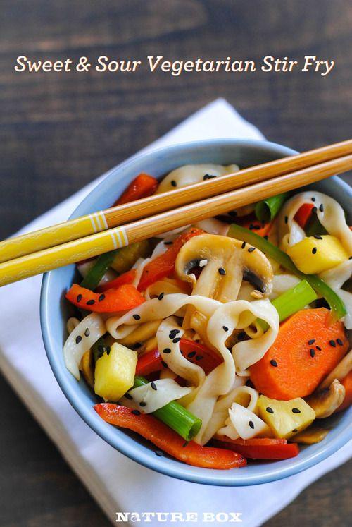 Sweet & Sour Vegetarian Stir Fry - image | Good Eatin' | Pinterest