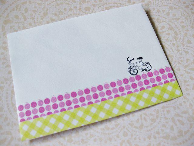 マスキングテープ封筒手紙デコ