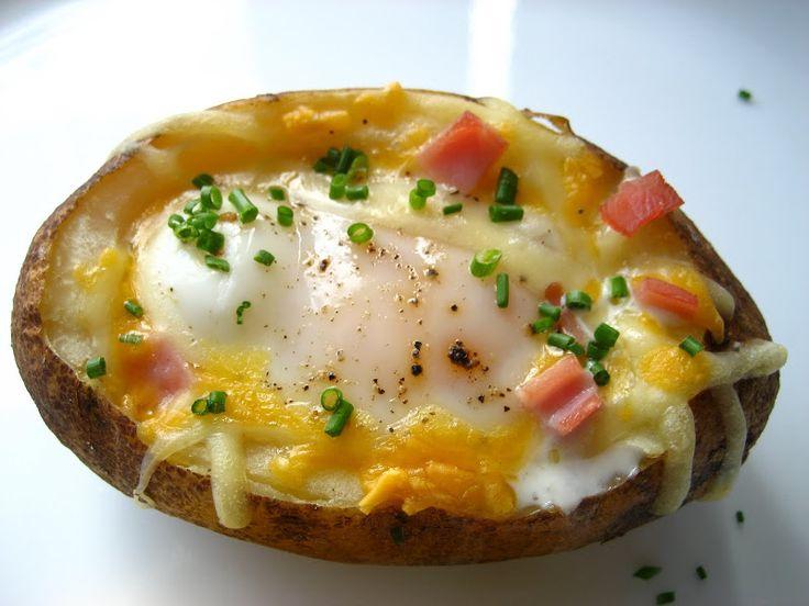 Egg Stuffed Baked Potato...