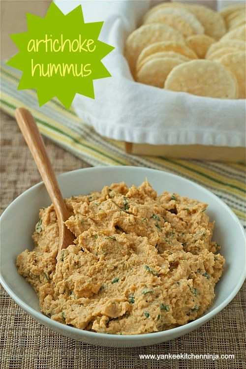 Artichoke hummus (and a book review) -- from the Yankee Kitchen Ninja