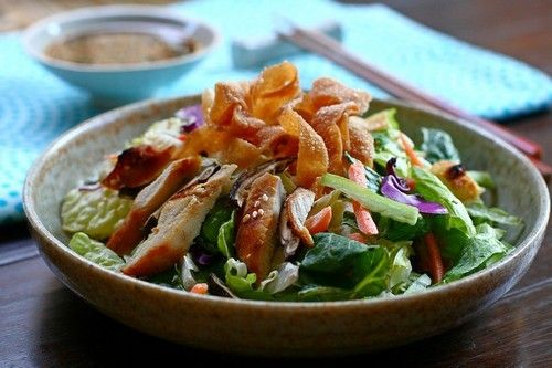 Chinese Chicken Salad recipe - include crispy noodles, fried wonton ...