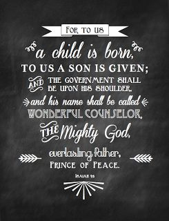 A Child is Born Chalkboard Printable from Sweet Blessings