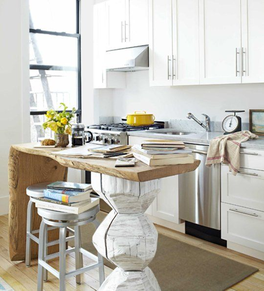 A Unique Small Space Kitchen Island — Kitchen Inspiration