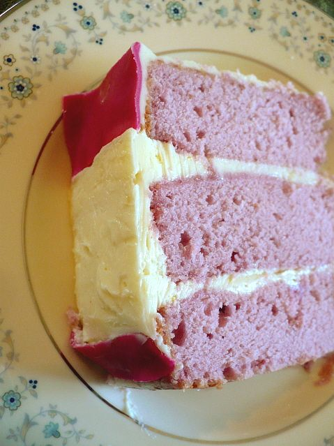 Pink Lady Cake with pureed raspberries. | Bake all about it | Pintere ...