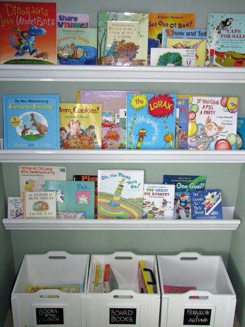 Nursery bookshelf gutter : Rain gutter bookshelf