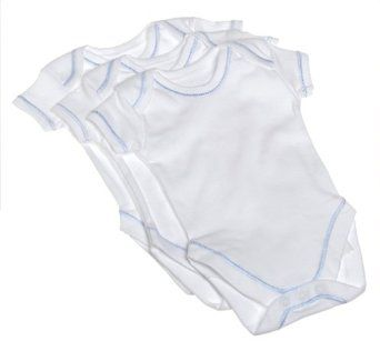 Spasilk 100% Cotton Short Sleeve Lap Shoulder 3-Pack Bodysuit