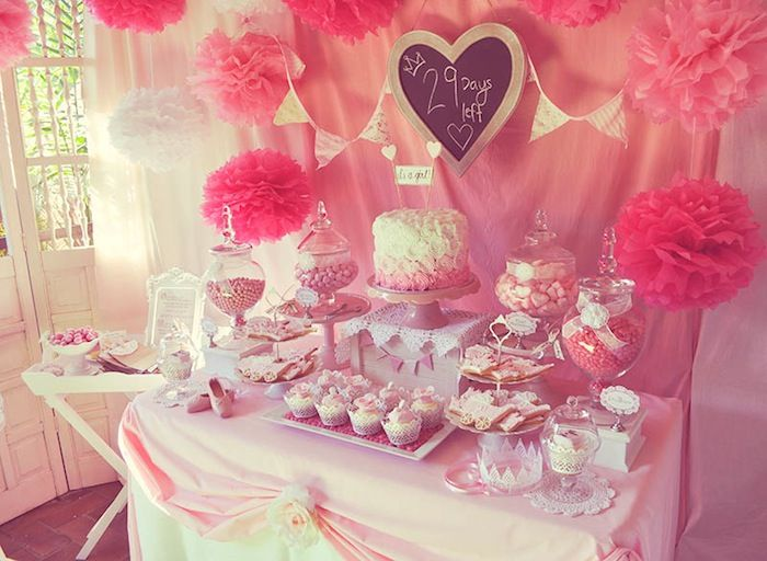 pink fairytale baby shower or birthday party ideas via kara 39 s party