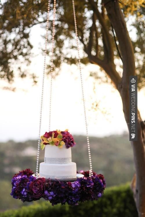 Cool! - Hanging Cake Display | CHECK OUT MORE IDEAS AT WEDDINGPINS.NET | #weddings #rustic #rusticwedding #rusticweddings #weddingplanning #coolideas #events #forweddings #vintage #romance #beauty #planners #weddingdecor #vintagewedding #eventplanners #weddingornaments #weddingcake #brides #grooms #weddinginvitations