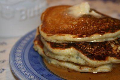 Blueberry Buttermilk Cornmeal Pancakes | Breakfast foods | Pinterest