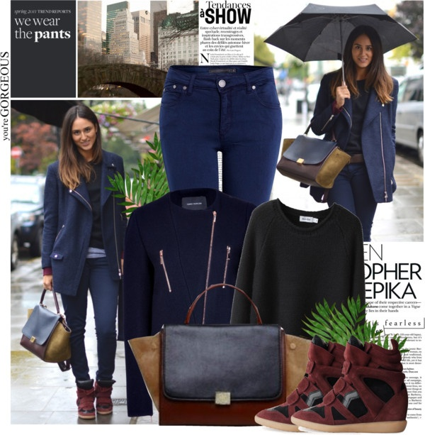 polyvore cobalt jeans outfit