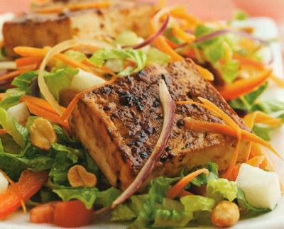 Asian Tofu Salad | stuff my face! I love Asian food | Pinterest