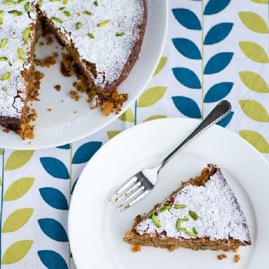 Carrot, Pistachio and Coconut Cake