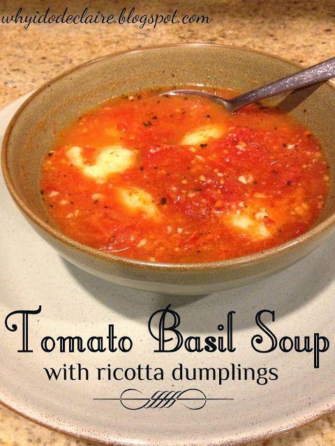Tomato Basil Soup | Soups & Stews | Pinterest