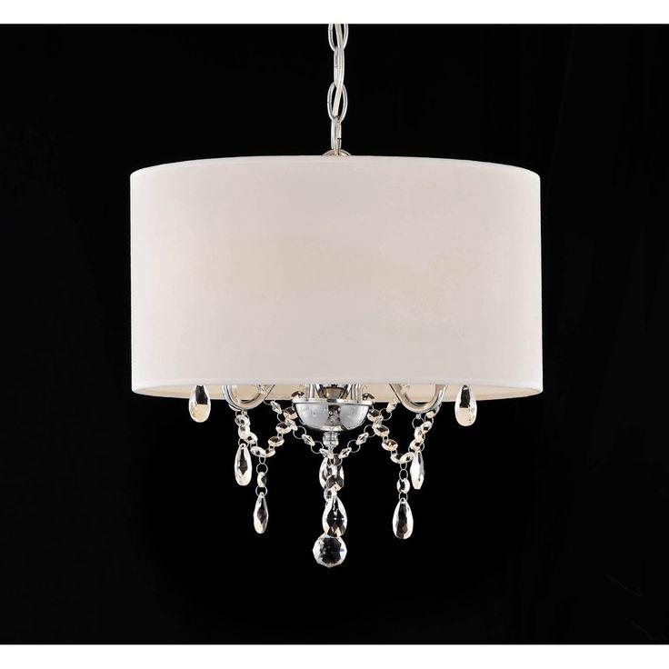Indoor 3 light White Chrome Pendant Chandelier