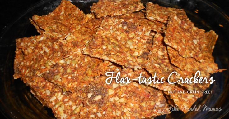 flax crackers (nut and gluten-free) | Food | Pinterest