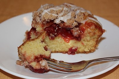 Glazed Cherry Streusel coffee cake | Desserts and Goodies | Pinterest